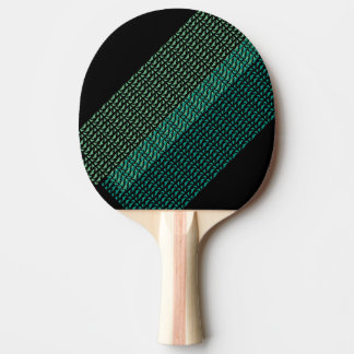 Modern Mirrored Geometric & Abstract Pattern Ping Pong Paddle