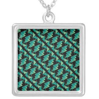Modern Mirrored Geometric & Abstract Pattern Silver Plated Necklace