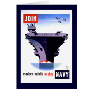 Modern Mobile Mighty Navy Card