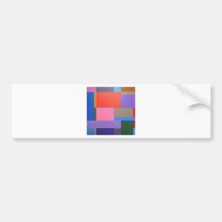 Modern/Mondrian Art Bumper Sticker