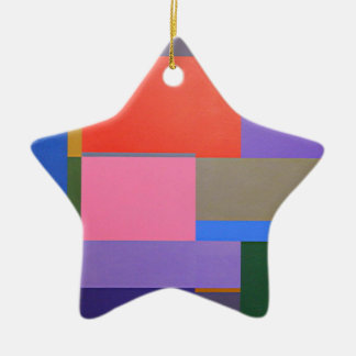 Modern/Mondrian Art Ceramic Ornament
