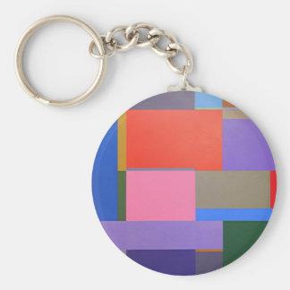 Modern/Mondrian Art Key Ring