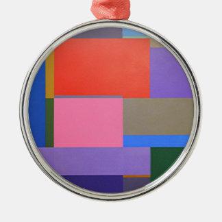 Modern/Mondrian Art Metal Ornament