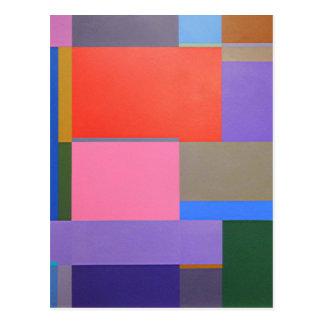Modern/Mondrian Art Postcard