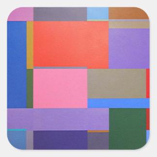 Modern/Mondrian Art Square Sticker
