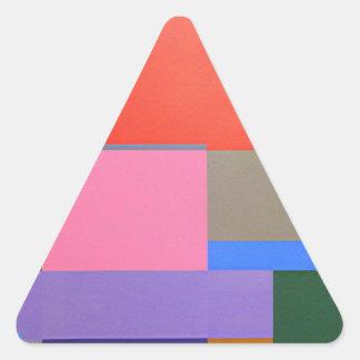 Modern/Mondrian Art Triangle Sticker