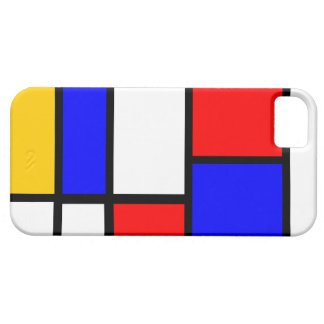 Modern Mondrian design iPhone 5 Cover