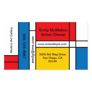Modern Mondrian Inspired business cards