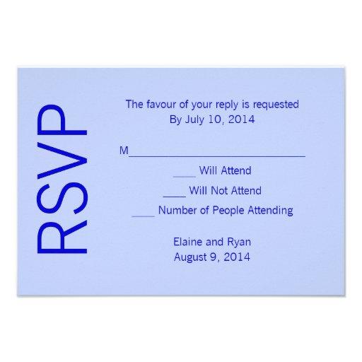 Modern Monogram - Blue Personalized Invite