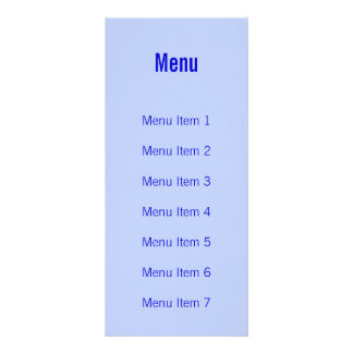 Modern Monogram - Blue Rack Cards