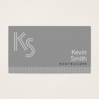 Modern Monogram Bodybuilding Business Card