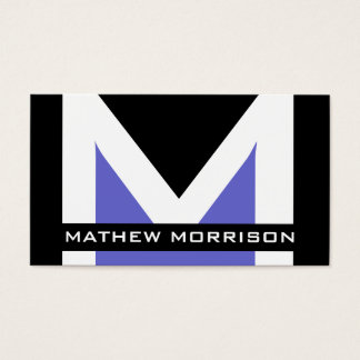 Modern Monogram Business Cards