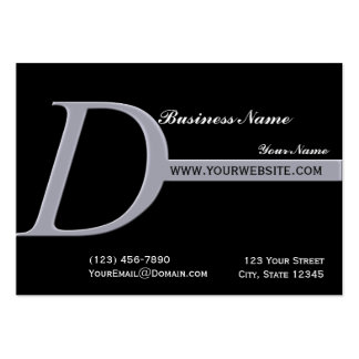 Modern Monogram D in Smokey Lilac Business Cards