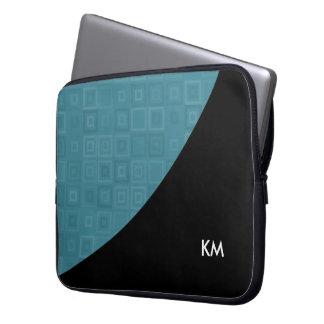 Modern Monogram Design Laptop Sleeve