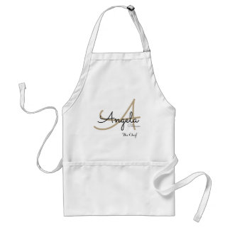 modern monogram for the chef cuisine standard apron