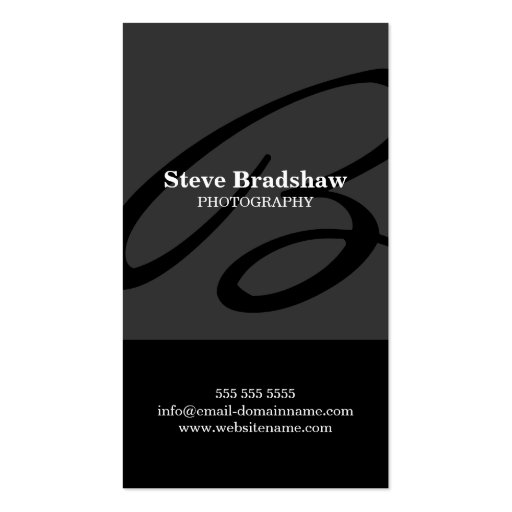 Modern Monogram Gray Business Cards
