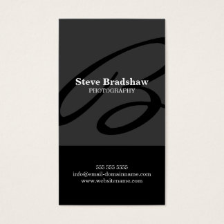 Modern Monogram Gray Business Cards