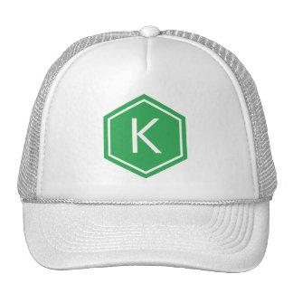 Modern Monogram Green Cap