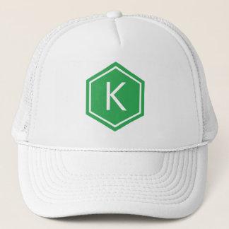 Modern Monogram Green Trucker Hat