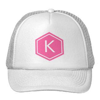 Modern Monogram Pink Cap
