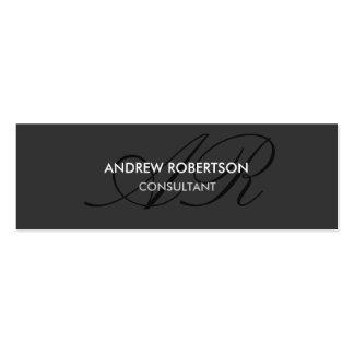 Modern Monogram Plain Gray Trendy Business Card