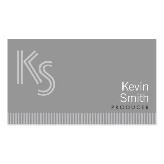 Modern Monogram Producer Business Card