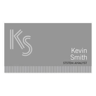 Modern Monogram System Analyst Business Card