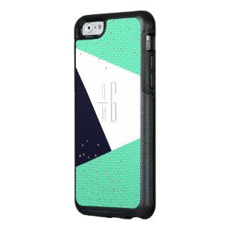 MODERN Monogrammed Geo Stripes & Glitter dots OtterBox iPhone 6/6s Case