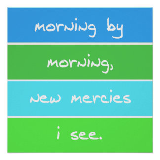 Modern Morning By Morning Christian Song Lyrics Poster
