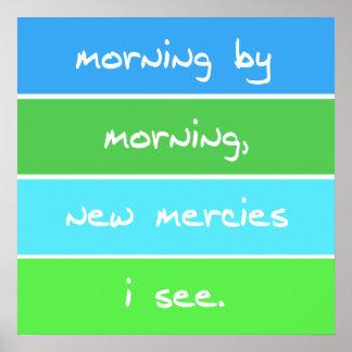 Modern Morning By Morning Christian Song Lyrics Poster