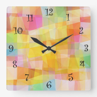 Modern Mosaic Design Square Wall Clock