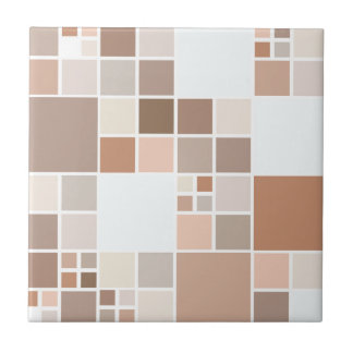 Modern Mosaic Tan Chocolate Kitchen Tile