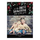 Modern Most Wonderful Holiday Greetings Photo Card 13 Cm X 18 Cm Invitation Card