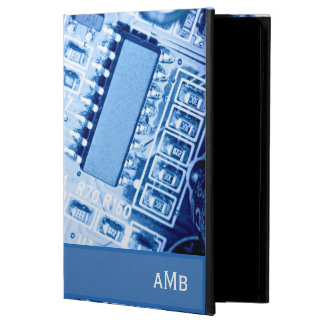 Modern Motherboard Pattern in Blue Colors Case For iPad Air