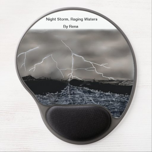 Modern Mouse Night Storm, Raging Waters  By Rena Gel Mouse Mat