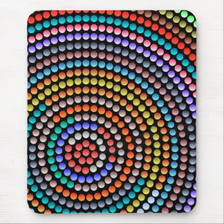 Modern mousepad, abstract colorful buttons mouse pad