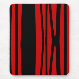 Modern mousepad, black, red, abstract mouse pad