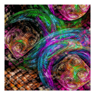 Modern Movement, abstract fractal Poster
