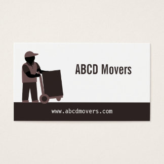 Modern Mover Moving Services Logistics Brown Business Card