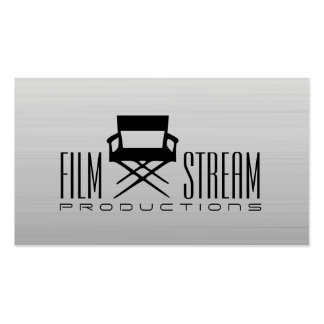 Modern Movie Director Chair Film Producer Business Card