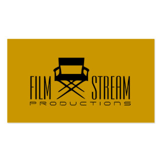 Modern Movie Director Chair Film Producer Pack Of Standard Business Cards