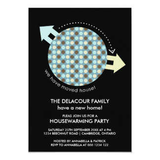 Modern Moving Houses Housewarming Party Invitation