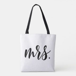 Modern Mrs. Bride Wedding All-Over Print Tote Bag