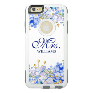 Modern Mrs Vintage Floral Watercolor OtterBox iPhone 6/6s Plus Case