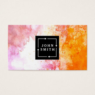 Modern Multi-color Watercolors Cool Abstract Business Card