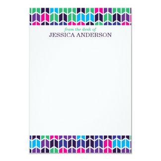 Modern Multi-Colored Geometric Pattern Note Cards 9 Cm X 13 Cm Invitation Card