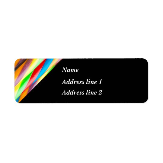 Modern Multicolored Pattern Return Address Label
