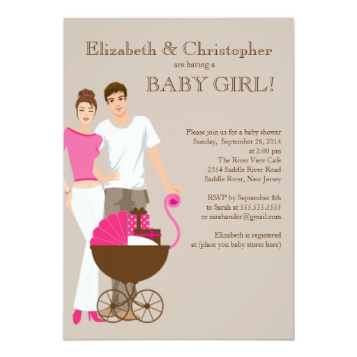 Baby Showers For Mums And Dads ~ Modern mum dad carriage couple baby shower cm