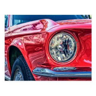 modern muscle car postcard