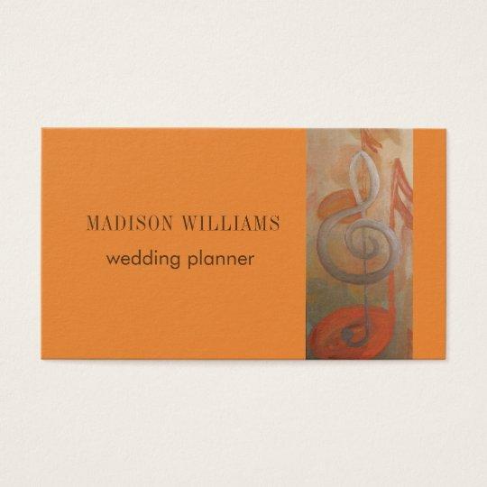 Modern Music Minimalist Art Business Card